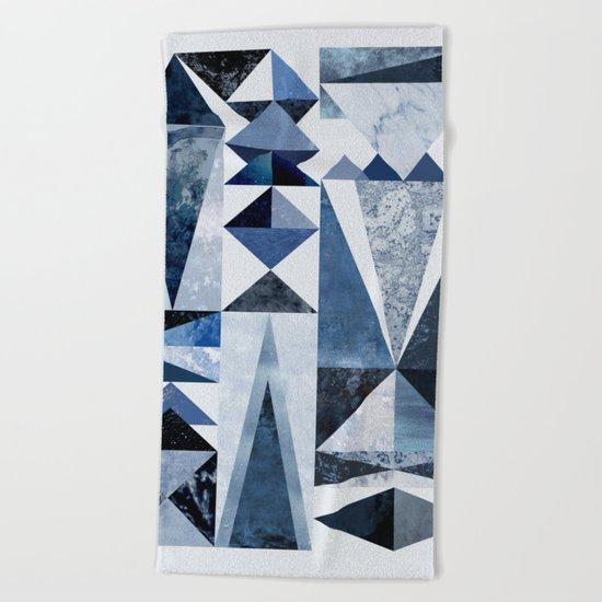 Blue Shapes Beach Towel
