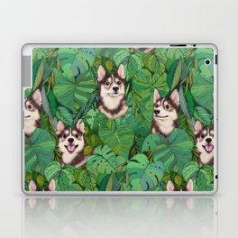 Pomsky Garden Laptop & iPad Skin
