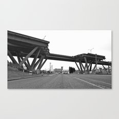 Viaduct destruction Canvas Print