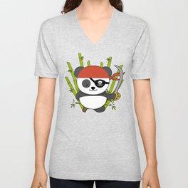 Pirate Panda Unisex V-Neck