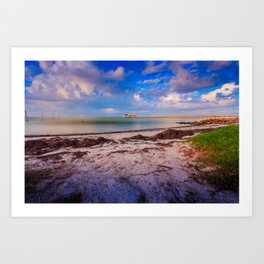 City Pier on Anna Maria Island Art Print