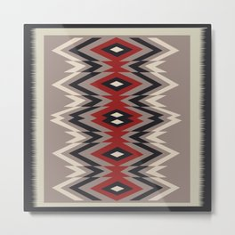 American Native Pattern No. 28 Metal Print
