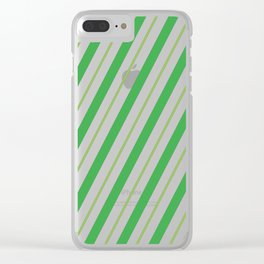 Green Peppermint - Christmas Illustration Clear iPhone Case