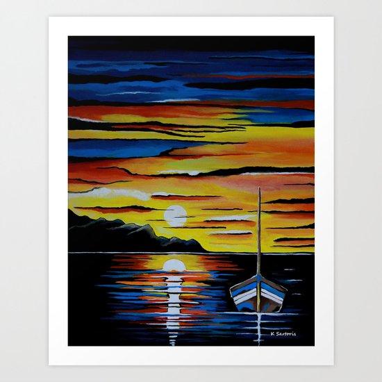 Escape To The Sea Art Print