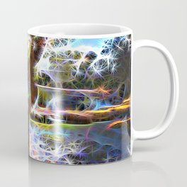 Trees Pond and Light Streams Coffee Mug