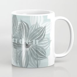 Mint Blue Watercolor Spring Flowers Coffee Mug