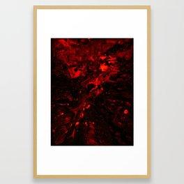 Red Blood Splatter Framed Art Print