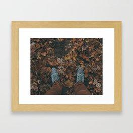 Creek Crossing Framed Art Print