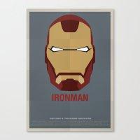 ironman Canvas Prints featuring IRONMAN by Alejandro de Antonio Fernández
