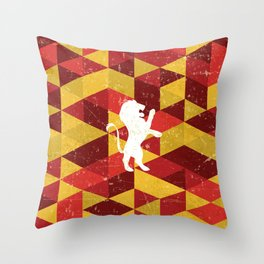 Gryffindor House Pattern Throw Pillow