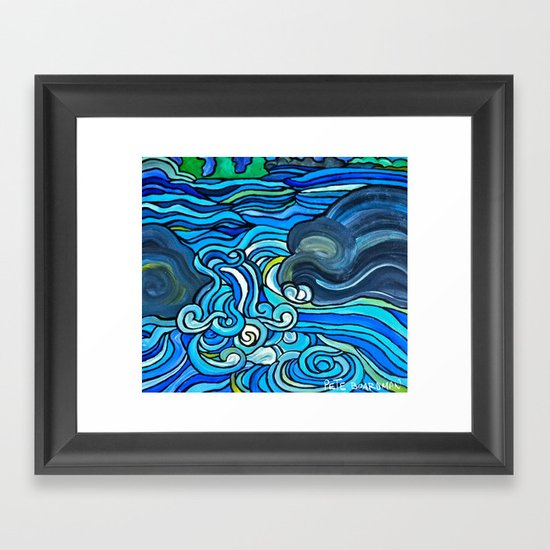 HIGH WATER Framed Art Print