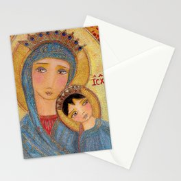 Our Lady of Perpetual Help by Flor Larios Stationery Cards