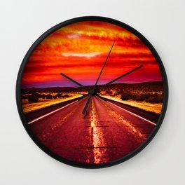 Desert Sunrise, Big Bend, Texas Wall Clock