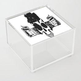 Live , death, banner , skull art, custom gift design Acrylic Box