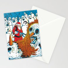 Santa's Last Stand Stationery Cards
