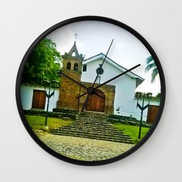 With the power of God. Wall Clock