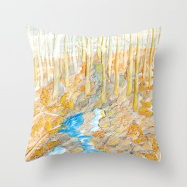 Eno River #28 Throw Pillow