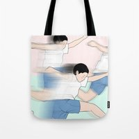 rush Tote Bags featuring RUSH by RUEI