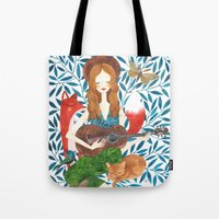 oana befort Tote Bags featuring PLAY ME A SONG by Oana Befort