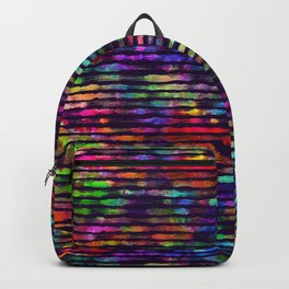 Rainbow watercolor brush stripes Backpack