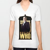 doctor V-neck T-shirts featuring Doctor ? by rnlaing