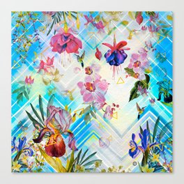 Geometric with tropical nature Canvas Print