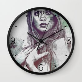 Gloria: Blue Wall Clock