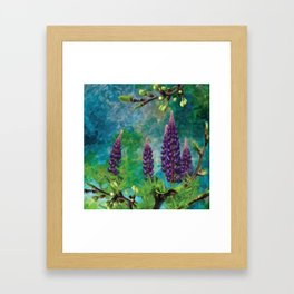 For The Love Of Lupines by annmariescreations Framed Art Print