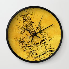 Candle Light Hope (Yellow Colors) Wall Clock
