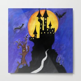 Haloween Castle Metal Print