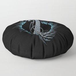 Vikings Dragon Ship Floor Pillow