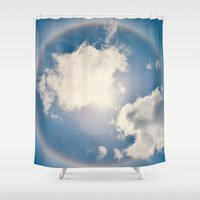 halo Shower Curtains featuring Halo by RDelean