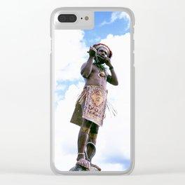 Papua New Guinea Man Clear iPhone Case