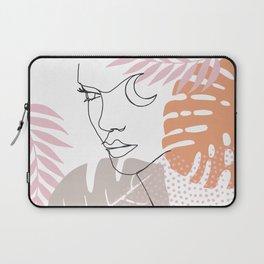 Jungle Line Girl Laptop Sleeve