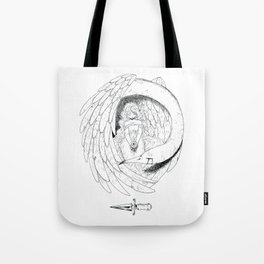 The girl and the bird Tote Bag