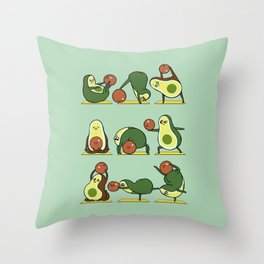 Avocado Yoga With The Seed Throw Pillow