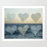 hearts Art Prints featuring Hearts by Pure Nature Photos