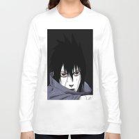 sasuke Long Sleeve T-shirts featuring Sasuke Uchiha  by Iotara