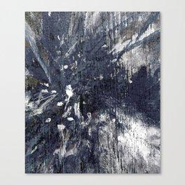 wood flower_blue Canvas Print
