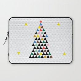 Geometric Christmas Tree Laptop Sleeve