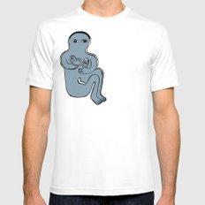 happily Mens Fitted Tee White MEDIUM