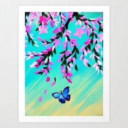 Butterfly Vertical Print Art Print