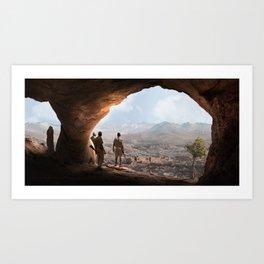 Desert Cave Art Print