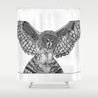 attack on titan Shower Curtains featuring Attack by elluce