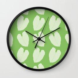 Alocasia Leaf Pattern Wall Clock