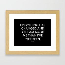 """Everything"" Text Framed Art Print"