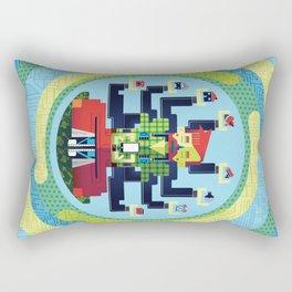 Technology Hub Rectangular Pillow