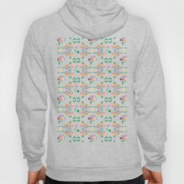 Floral garden Repeat Pattern Illustrated Print Hoody