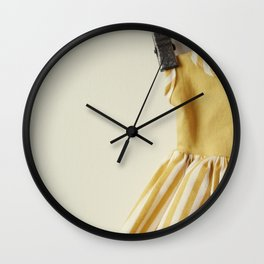 Doll Closet Series - Mustard Stripe Dress Wall Clock