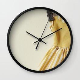 Doll Closet Series - Mustard Stripe Dress Wall Clock